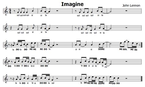 testo imagine musica e spartiti gratis per flauto dolce imagine lennon