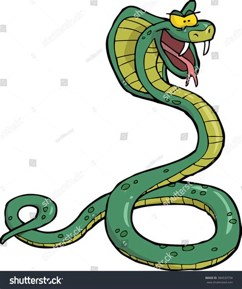 doodle snake doodle snake cobra on white stock illustration