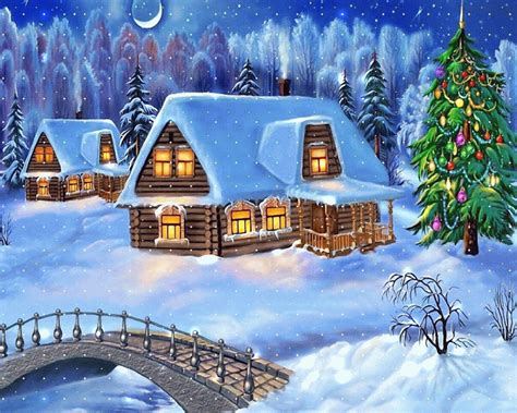 awesome animated merry christmas latest wallpapers