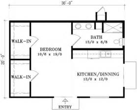 Cottage style house plan 1 beds 1 baths 600 sq ft plan 1 118