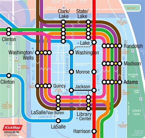 Chicago Cta Map by Kickmap Chicago