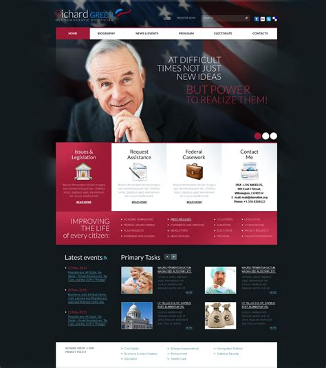 political templates political candidate psd template 38128