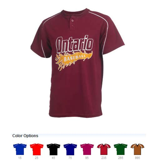 design your jersey baseball design custom printed two button baseball jersey online