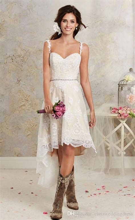 lace country style dresses discount simple unique country style high lace low wedding
