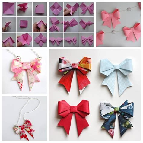 Origami Bow - wonderful diy origami paper bow