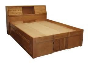 Oak King Platform Bed With Drawers Fd 3021 Contemporary Oak Platform Bed Headboard Sold