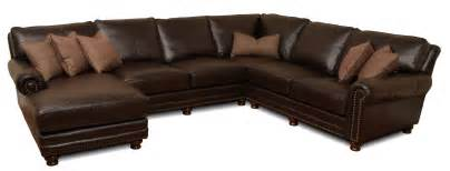 Custom Sofas Atlanta Kingston Deep Leather Sectional