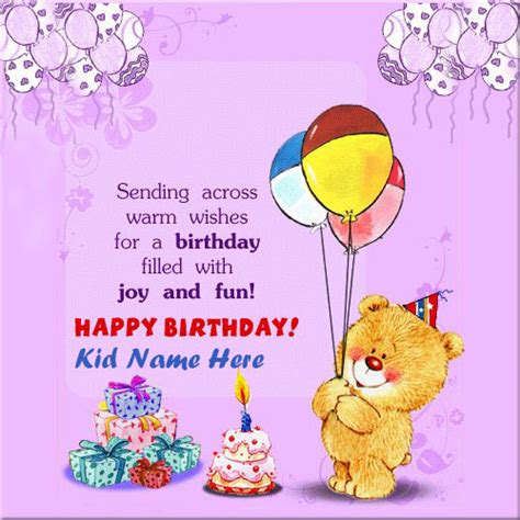 Free Children S Birthday Cards Create Birthday Funny Greeting Ecard For Kids With Name