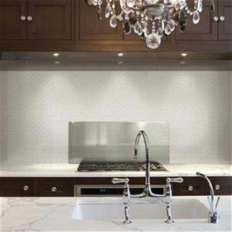white peel and stick backsplash smart tiles 9 63 in x 11 27 in peel and stick mosaic