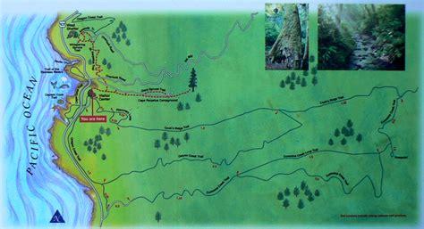 map of yachats oregon coast cascade ramblings cascader perpetua trail cape