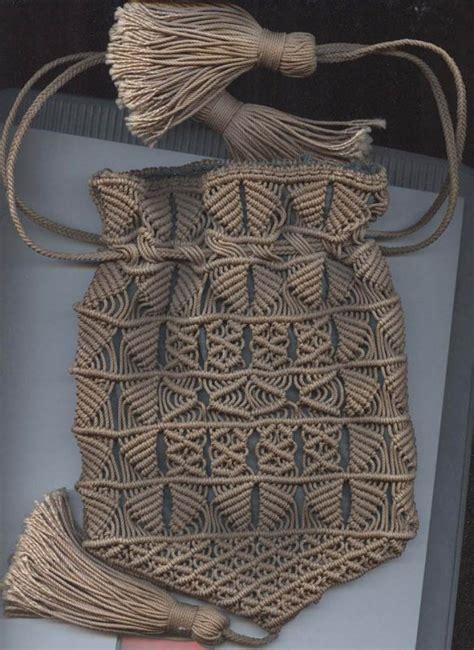 macrame tote bag pattern sailor s macrame antique bag purse