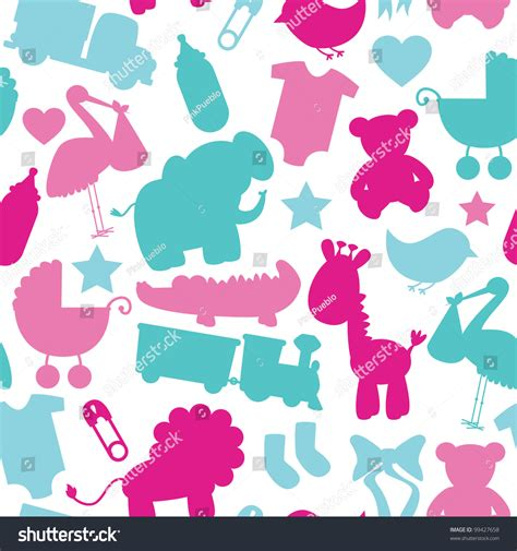 seamless pattern baby seamless vector baby shower pattern 99427658 shutterstock