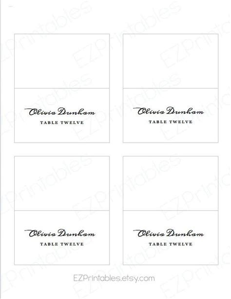 avery 5302 template printable place card avery 5302 template instant