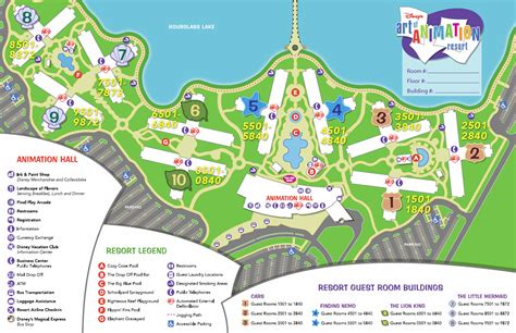 el magic resort map of animation family suites wdwmagic unofficial