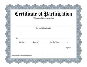Free Templates For Certificates Of Participation by Best Photos Of Template Of Certificate Recognition