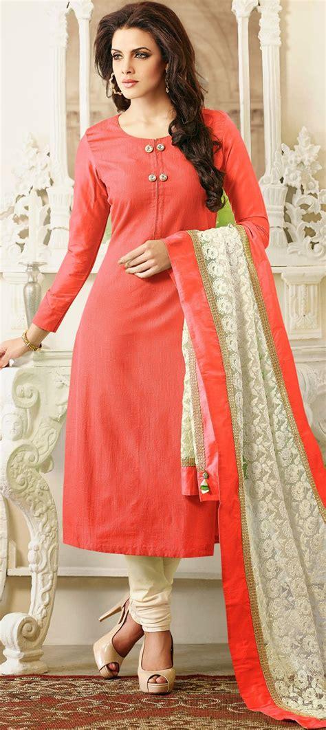 color pattern salwar suit 425513 orange color family unstitched party wear salwar