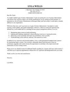 Cover Letter For System Administrator by Leading Professional Legacy Systems Administrator Cover