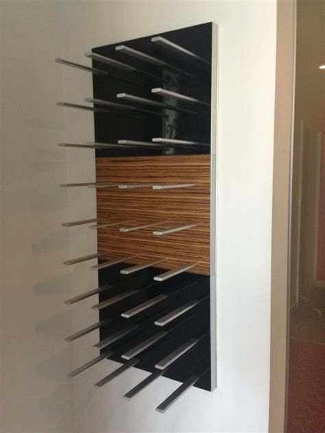 Wall Wine Rack Modern by Wall Mounted Wine Wall Rack In Piano Black High Gloss