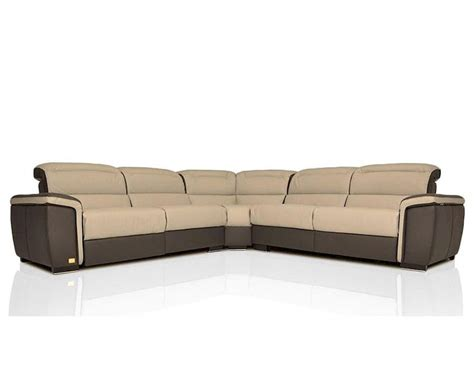 modern italian leather sectional sofa w recliners