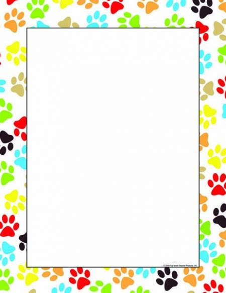 printable poster borders paw border images borders graphics pinterest planners