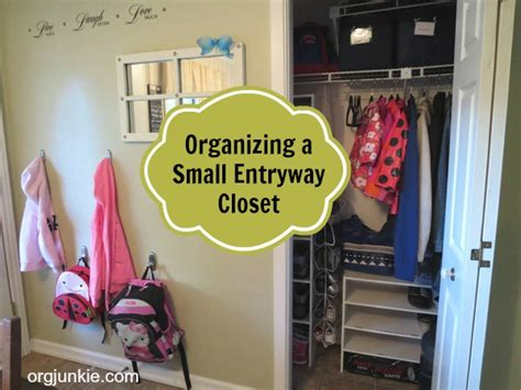 how to organize small closet organizing a small entryway closet day 14
