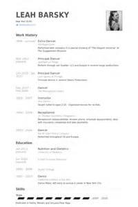 dancer resume samples visualcv resume samples database