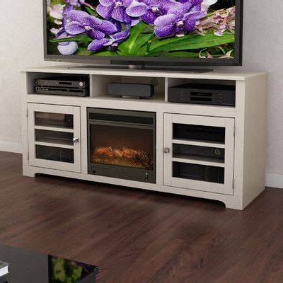 tv stands with built in fireplace wayfair white tv stand with a built in fireplace and open