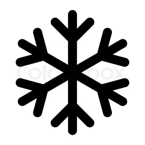 Home Design Online 2d Icon Christmas Snowflake Black Stock Vector Colourbox