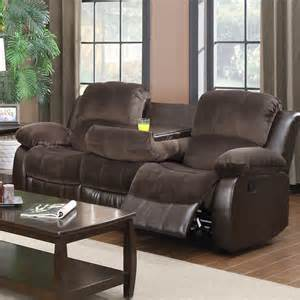 Reclining Sofa With Table Furniture Reclining Sofa With Drop Table Ebay