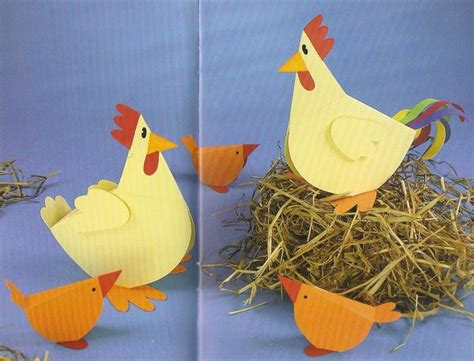 Chicken Papercraft - crafts actvities and worksheets for preschool toddler and