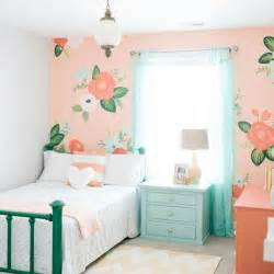 Bedroom Accessories For Girls Floral Peach And Mint Dream Girls Room Retreat By Honey We Re Home
