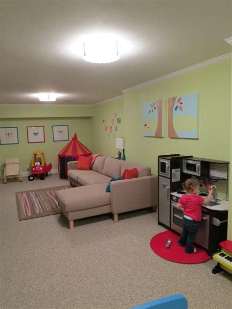 basement playroom family room home