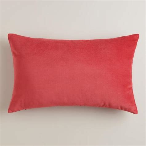 Coral Lumbar Pillow coral velvet lumbar pillow world market