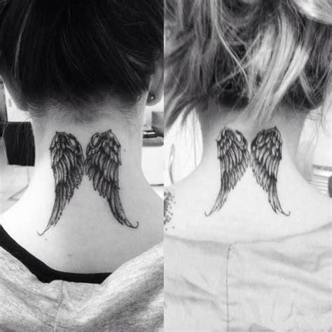 tattoo angel wings neck angel wings neck tattoo tattoos pinterest