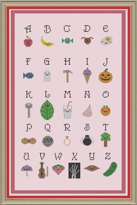 cute alphabet pattern alphabet sler cute cross stitch pattern stitchy