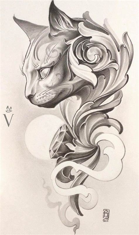 tattoo cat drawing 605 best tattoo images on pinterest pisces fish and