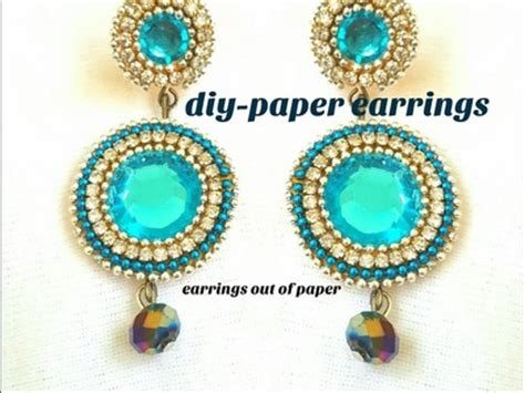 How To Make Earrings Out Of Paper - earrings how to make silk thread jhumkas at home diy