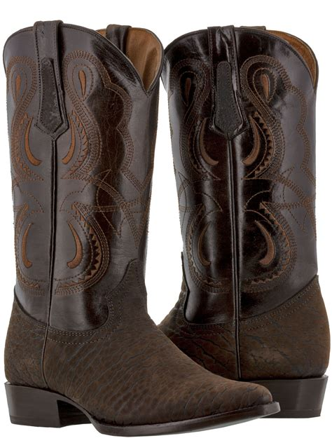 mens brown bull bison buffalo neck leather western cowboy
