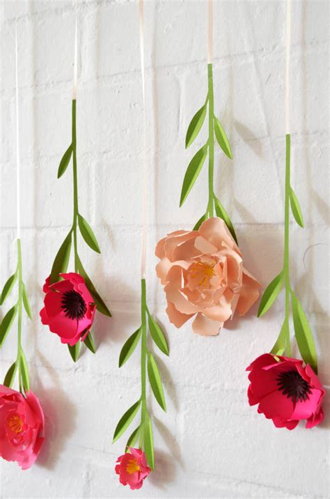 How To Make Hanging Paper Flowers - set of 10 handmade hanging paper flowers by may contain