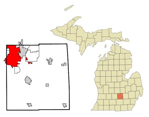 Ingham County Search File Ingham County Michigan Incorporated And Unincorporated Areas Lansing Highlighted