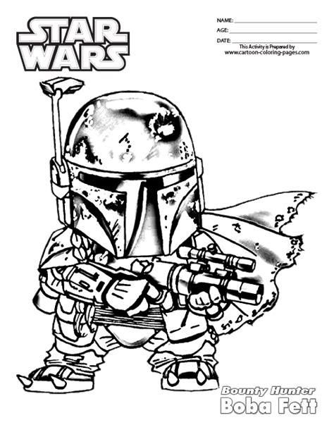 Free Coloring Pages Of Boba Fett Para Colorear Boba Fett Coloring Page
