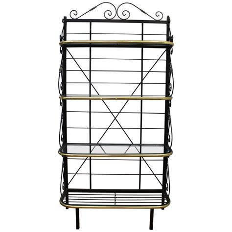 Metal Bakers Rack by Mid Century Brass And Metal Bakers Rack For Sale At 1stdibs