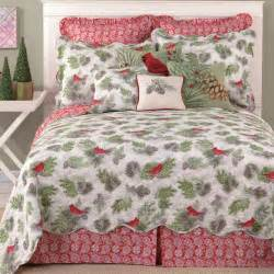 Winter Bedding Winter Bird Cardinal Holiday Quilt Bedding