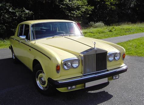 roll royce yellow rolls royce silver shadow ii