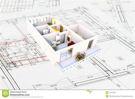Studio Apartment Plans plan de l appartement 3d image libre de droits image