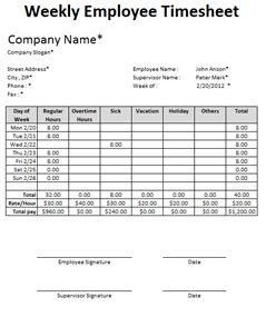 Weekly Timesheet Template Excel Free by Free Excel Employee Timesheet Template