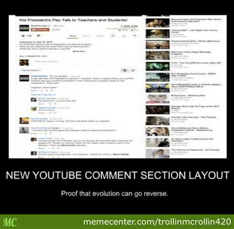 Youtube Comment Memes - new youtube comment section layout by trollinmcrollin420