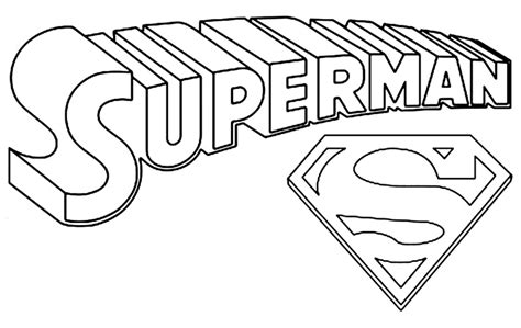 superman logo coloring pages az coloring pages