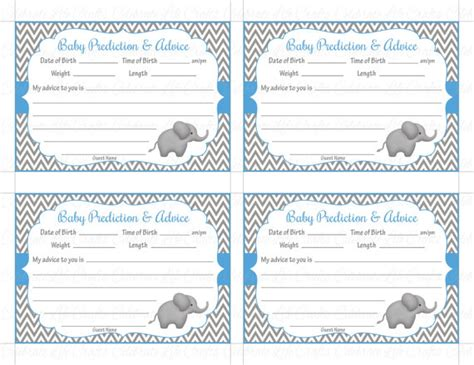 free template for baby shower advice cards baby shower prediction and advice cards mommy printable baby