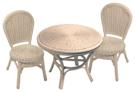 Wicker Children S Table And Chairs Set Tropical